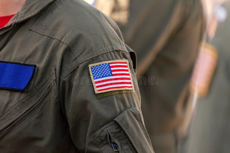 amerikanska flagganlapp arkivbild
