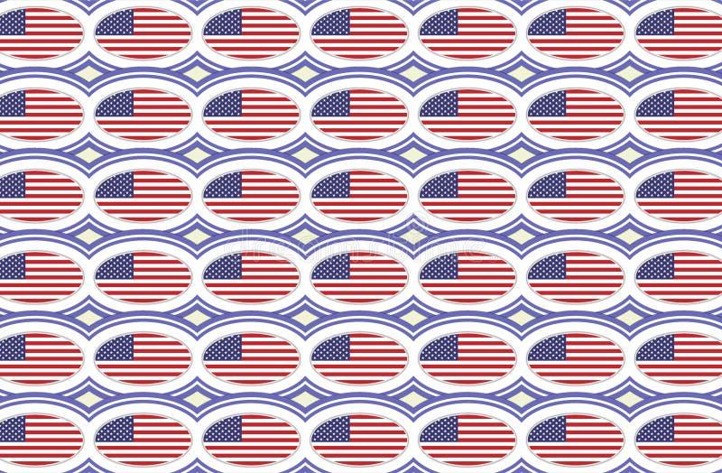 Amerikanska flagganmodell stock illustrationer