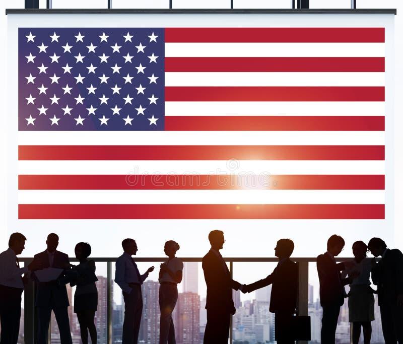 Amerikanska flaggannationalitet Liberty Country Concept royaltyfri bild