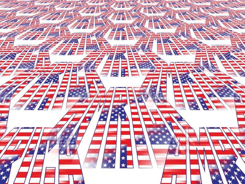 Amerikanska Flagganperspektiv Royaltyfri Foto
