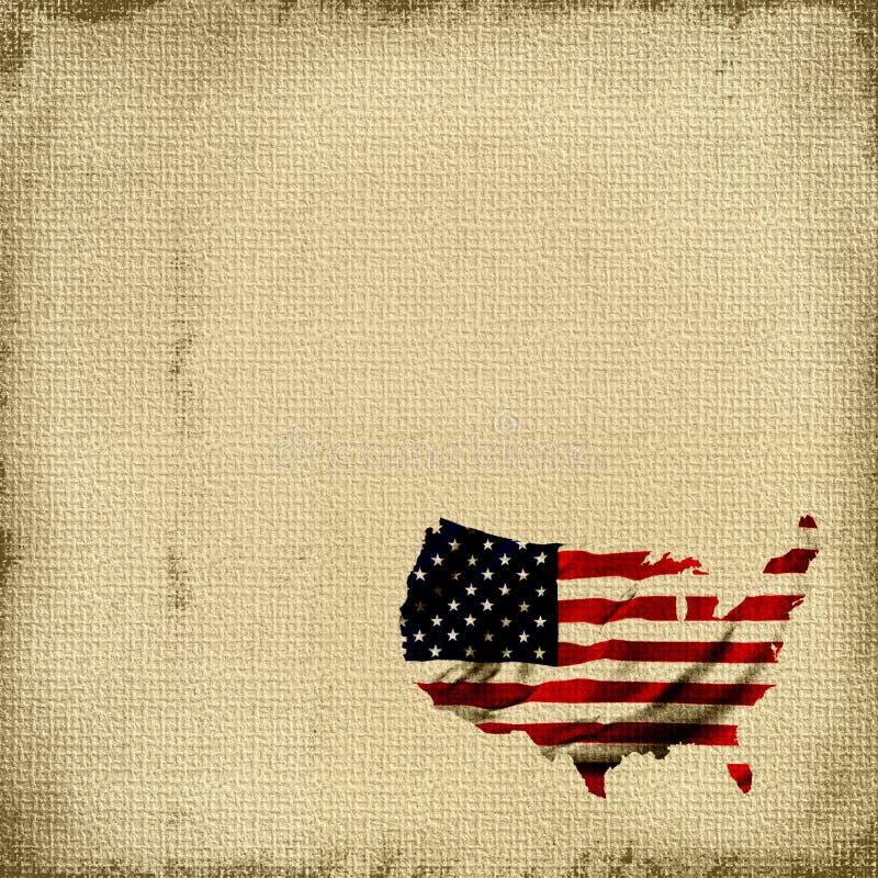 amerikanska flaggantapestry vektor illustrationer