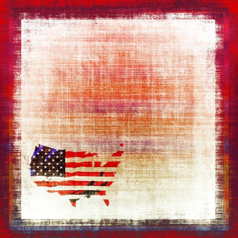 amerikanska flaggantapestry royaltyfri illustrationer