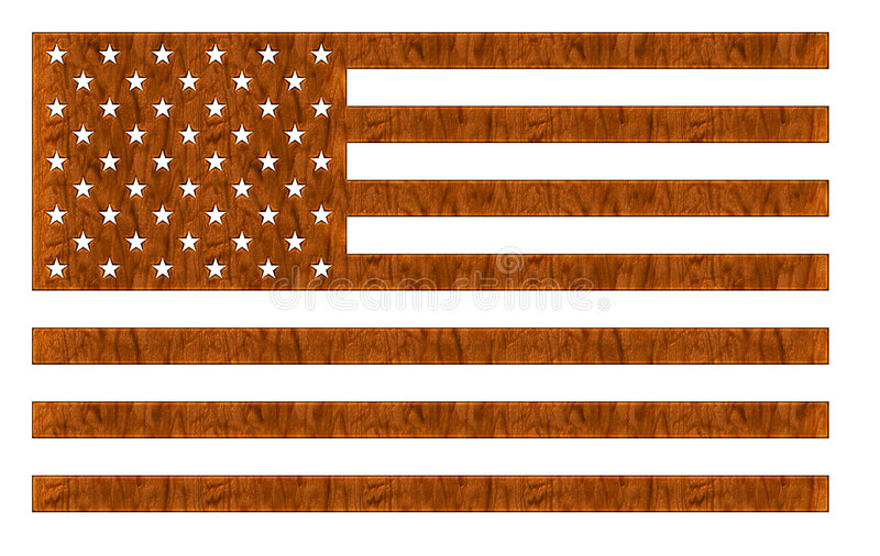 amerikanska flagganträ stock illustrationer