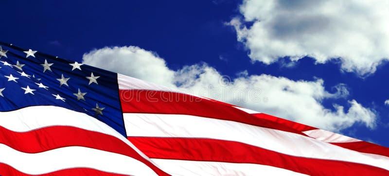 amerikanska flagganvåg royaltyfri fotografi