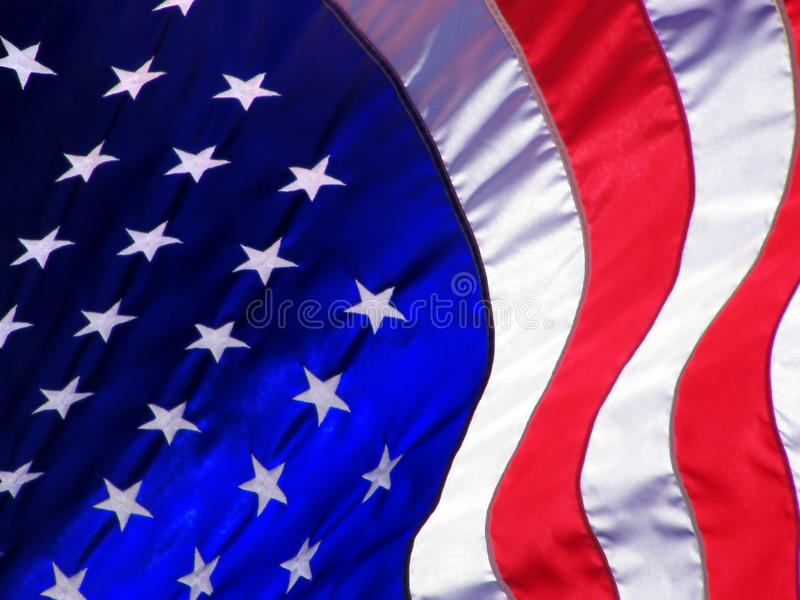 amerikanska flagganwave royaltyfri foto