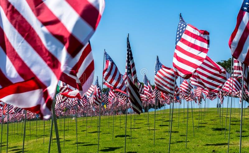 amerikanska flagganwind arkivbild