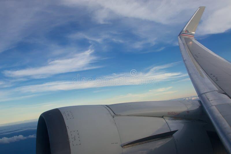 amerikanska flygbolag royaltyfria bilder