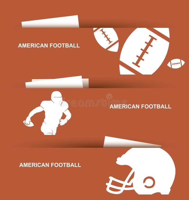 Amerikanska fotbollbaner royaltyfri illustrationer