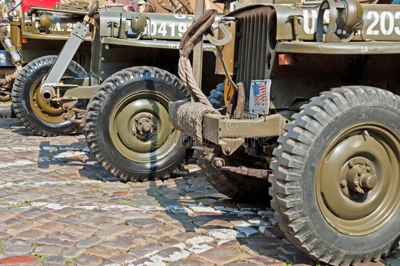 amerikanska jeeps arkivfoton