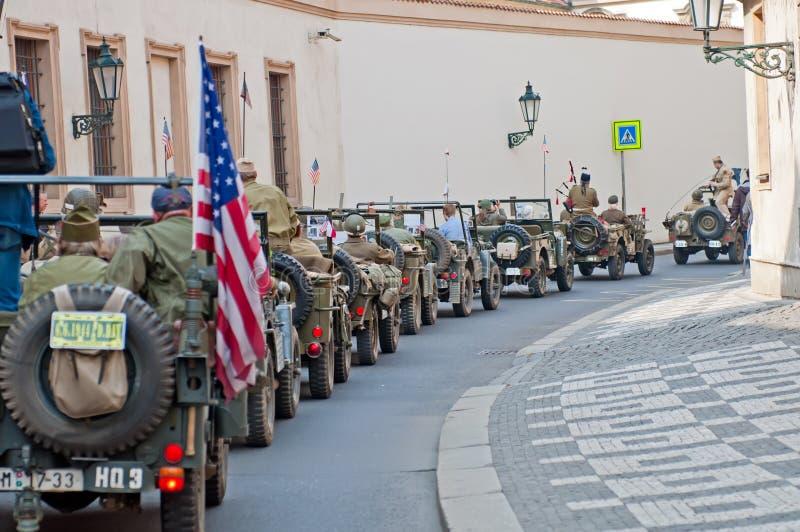 amerikanska jeepsveteran royaltyfria bilder