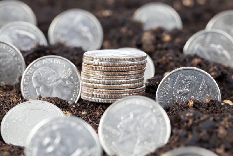 amerikanska mynt fotografering för bildbyråer
