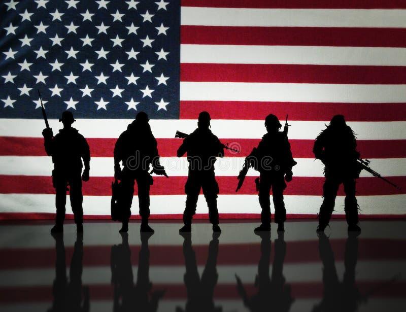 Amerikanska specialförband royaltyfri bild