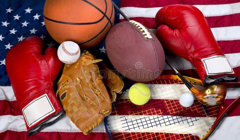 amerikanska sportar arkivfoton