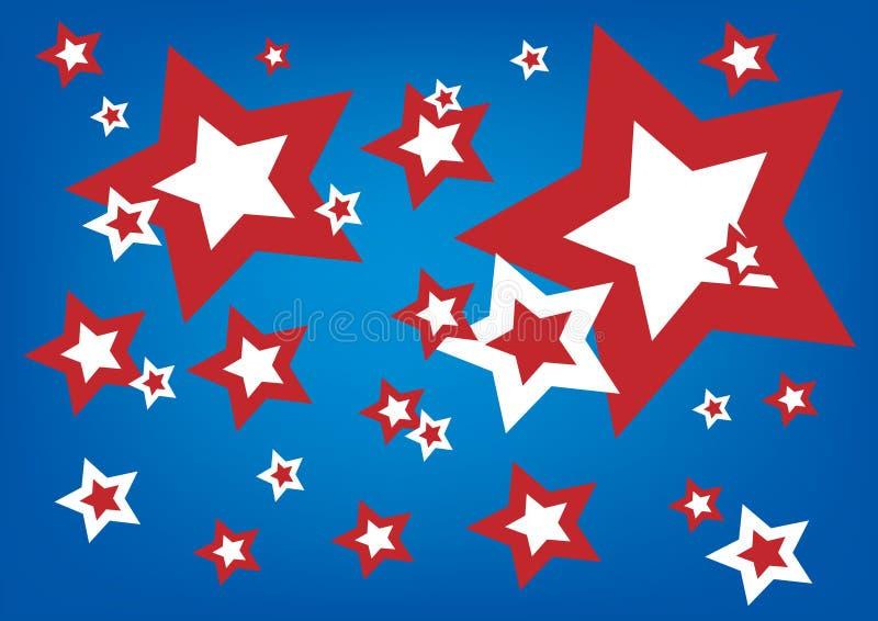 amerikanska stjärnor stock illustrationer