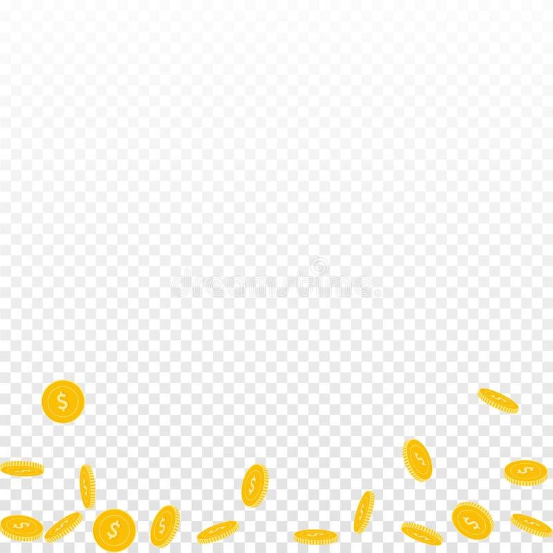 Amerikanskt falla f?r dollarmynt Spritt glest USA vektor illustrationer