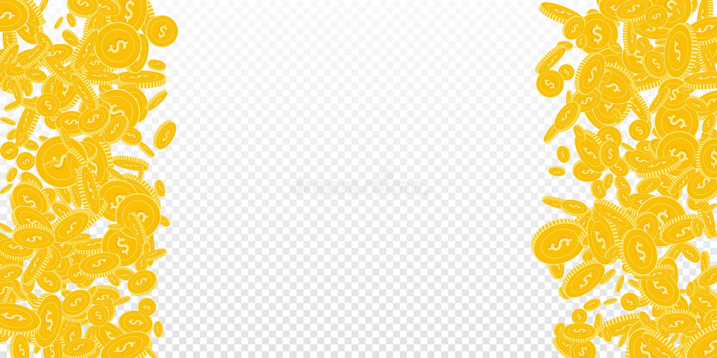 Amerikanskt falla f?r dollarmynt Spritt sv?va royaltyfri illustrationer