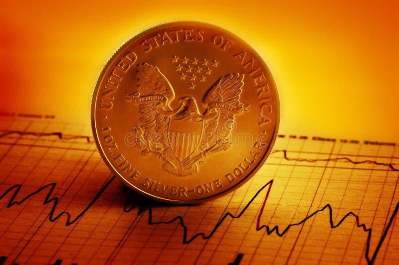 amerikanskt finansiellt royaltyfri foto