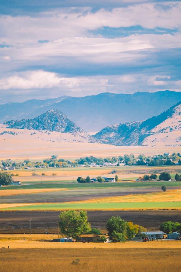 Amerikanskt lantligt landskap fotografering för bildbyråer