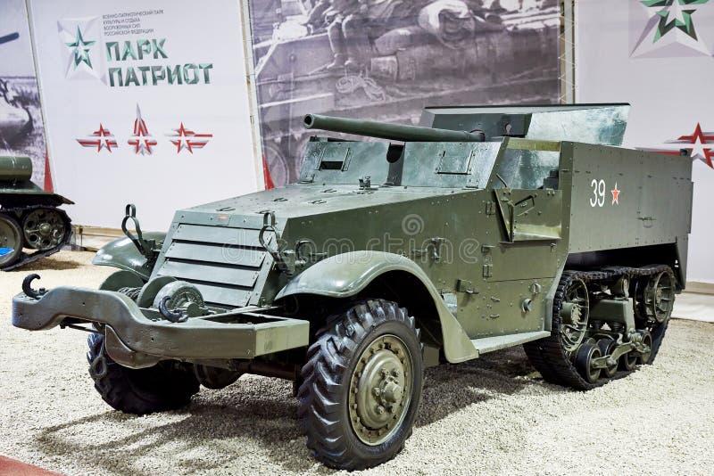 Amerikanskt självgående anti--behållare för motorvagn vapen T48 arkivfoton