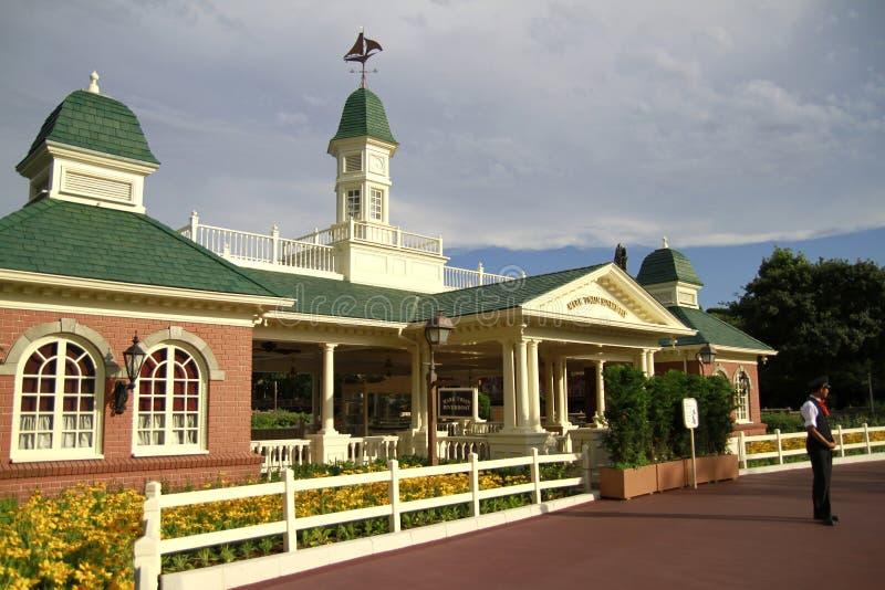 Amerikanskt stilhus i Tokyo Disneyland royaltyfria bilder