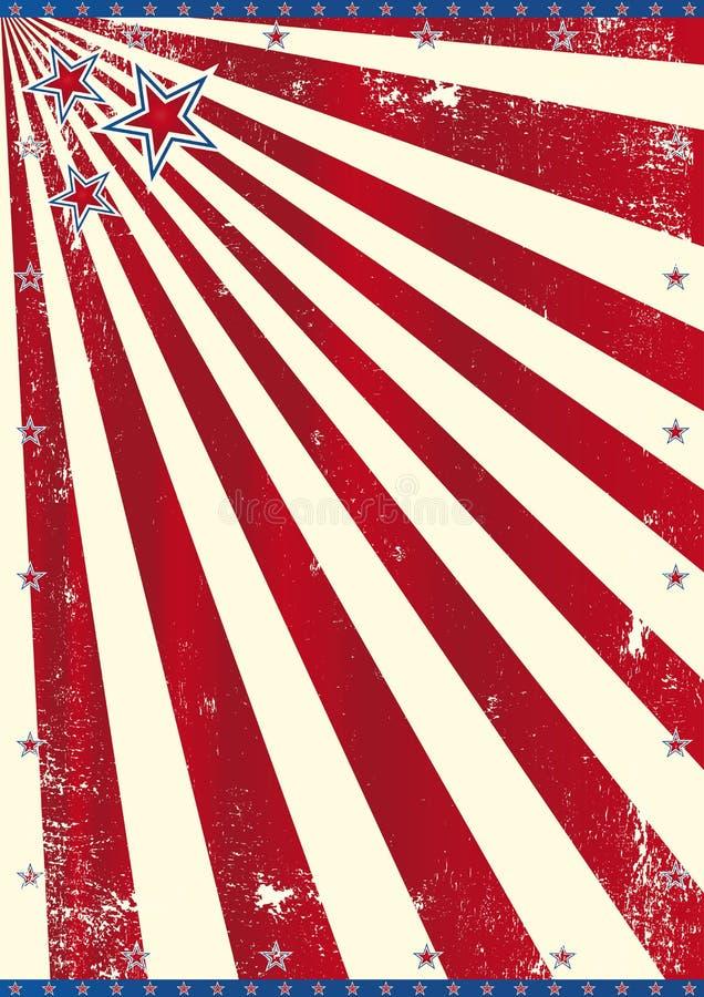Amerikanskt tema royaltyfri illustrationer