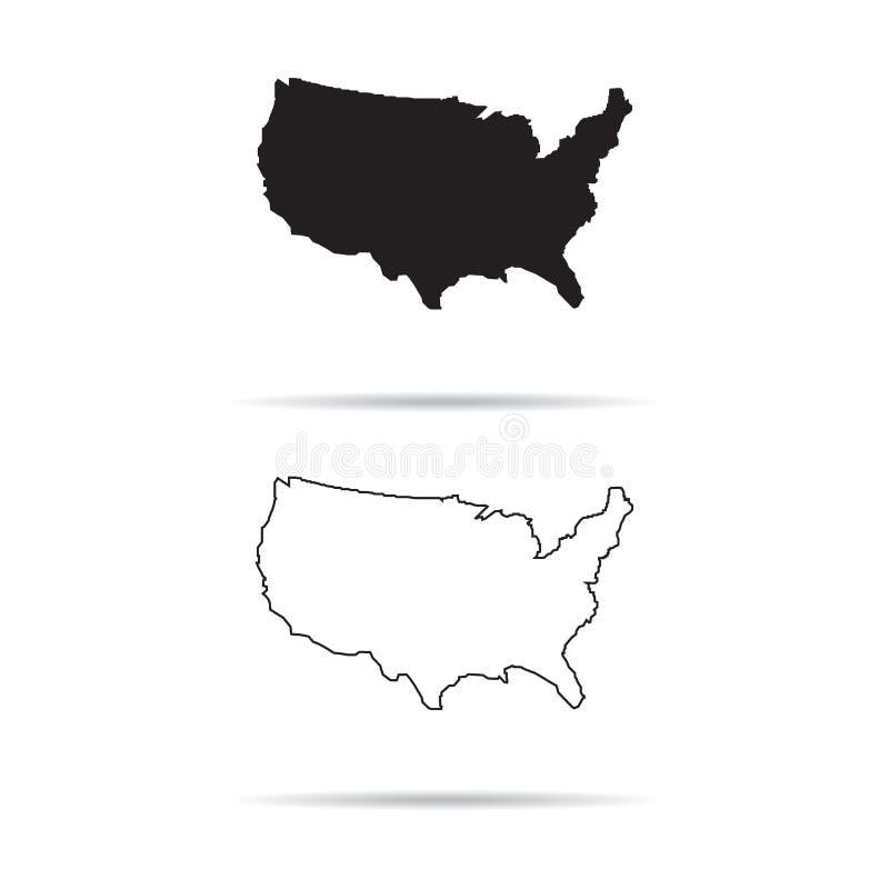 AMERIKAS FÖRENTA STATERÖVERSIKT, USA ÖVERSIKT vektor illustrationer