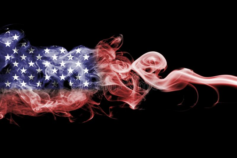 Amerikas förenta stater röker flaggan, USA-flagga royaltyfri illustrationer