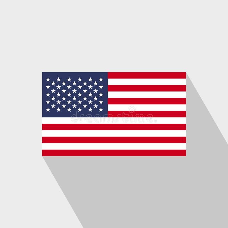Amerikas förenta stater sjunker den långa skuggadesignvektorn vektor illustrationer