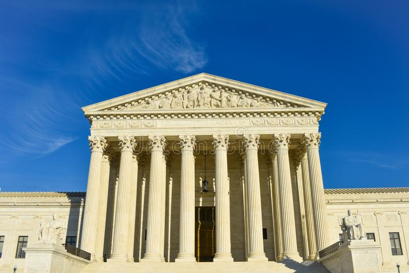 Amerikas förenta staterhögsta domstolenbyggnad arkivbild