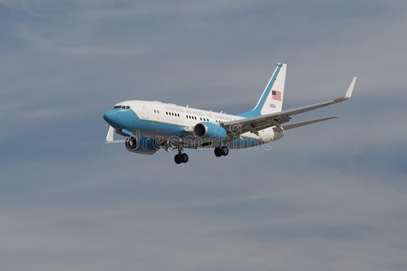 Amerikas förenta staterU.S.A.F.-flygplan royaltyfri fotografi