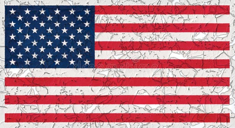 Amerikas f?renta stater sjunker royaltyfri illustrationer