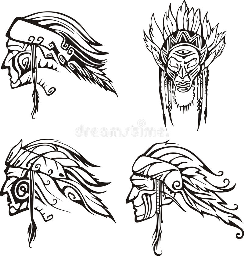 Free Amerindian Heads Stock Images - 26005004