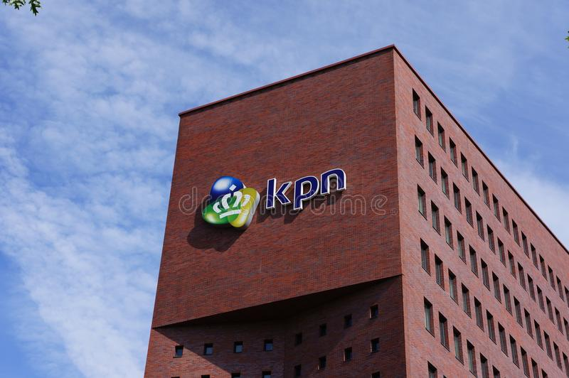KPN office building in Amersfoort, the Netherlands. Amersfoort, the Netherlands. July 2018. KPN, a Dutch landline and mobile telecommunications company royalty free stock photos