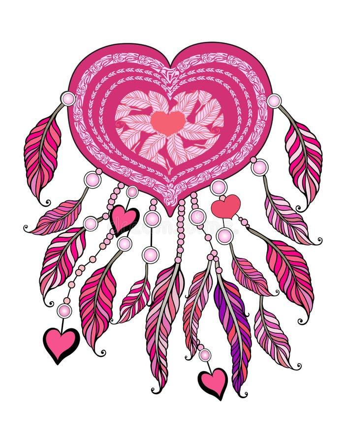 Amerykańskich indianów tradycyjny symbol Wektoru wymarzony łapacz zdjęcia royalty free