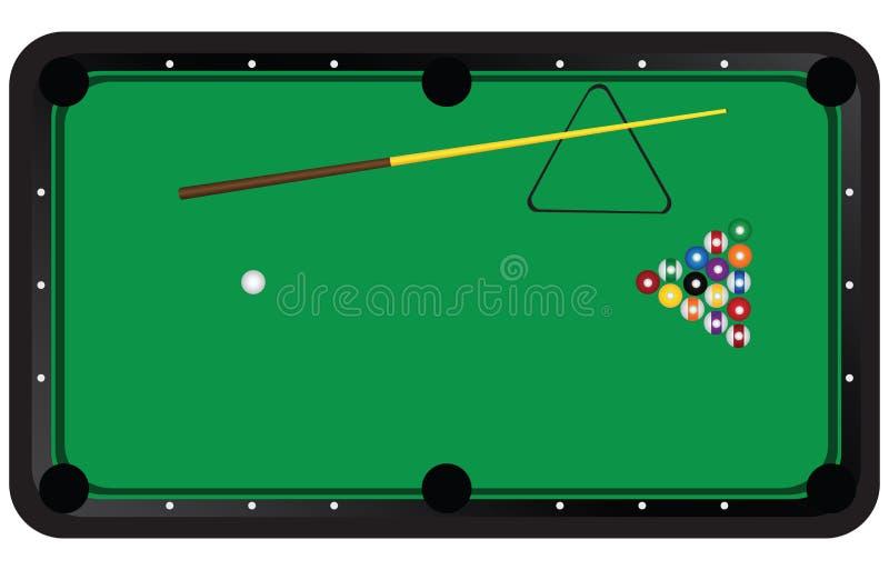 Amerykańscy billiards ilustracji