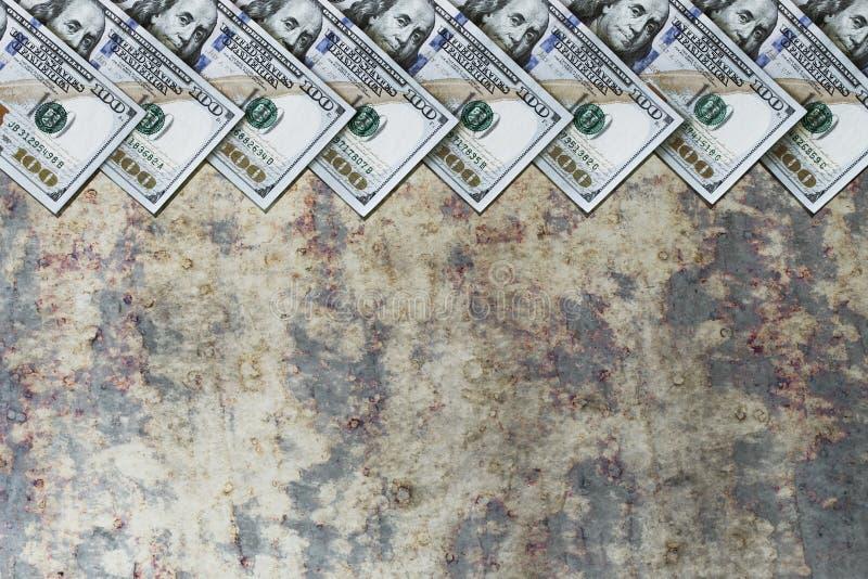 Amerykańscy dolary, opróżniają przestrzeń dla inskrypcji zdjęcia royalty free