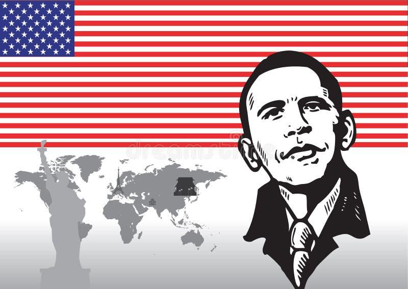 amerykańscy symbole royalty ilustracja