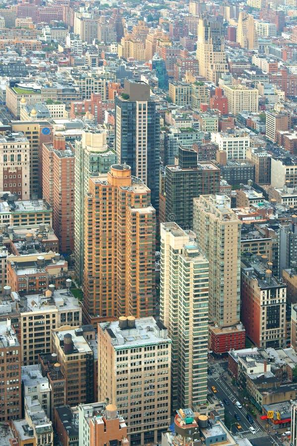 Amerykańscy wysocy drapacze chmur Widok Nowy Jork od above zdjęcie royalty free