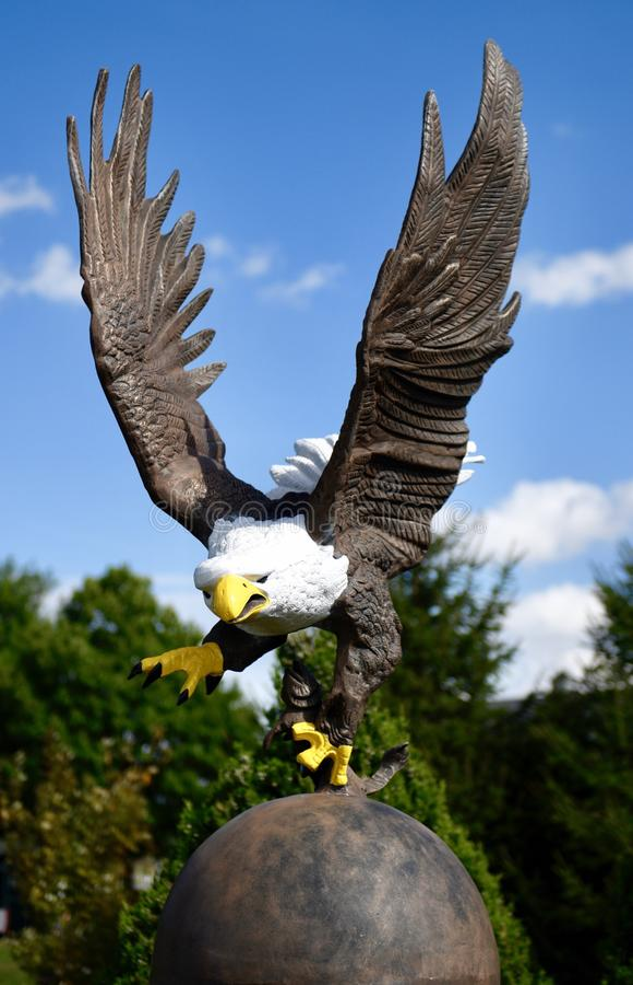 Amerykańska Łysego Eagle rzeźba obraz stock