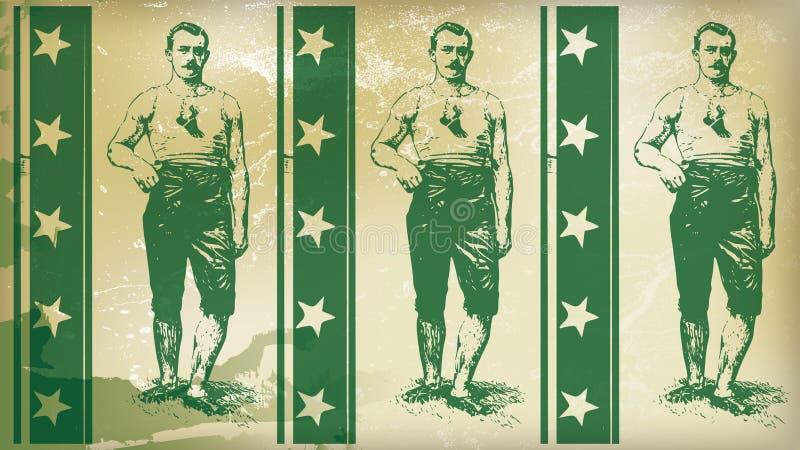 Amerykańska bokser zieleń ilustracja wektor