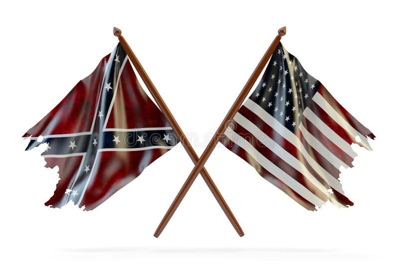 Amerykańska cywilna wojna i merorial dnia pojęcie ilustracja wektor