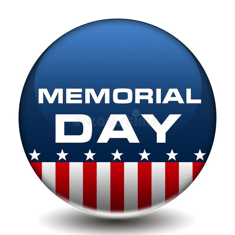 Amerykańska dzień pamięci odznaka ilustracja wektor