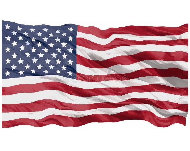 amerykańska flaga ilustracja wektor