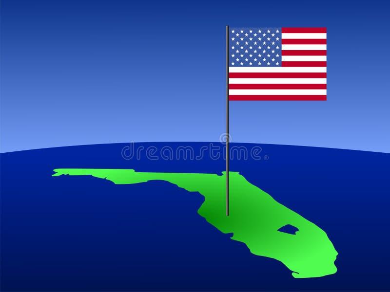 amerykańska flaga Florydy royalty ilustracja