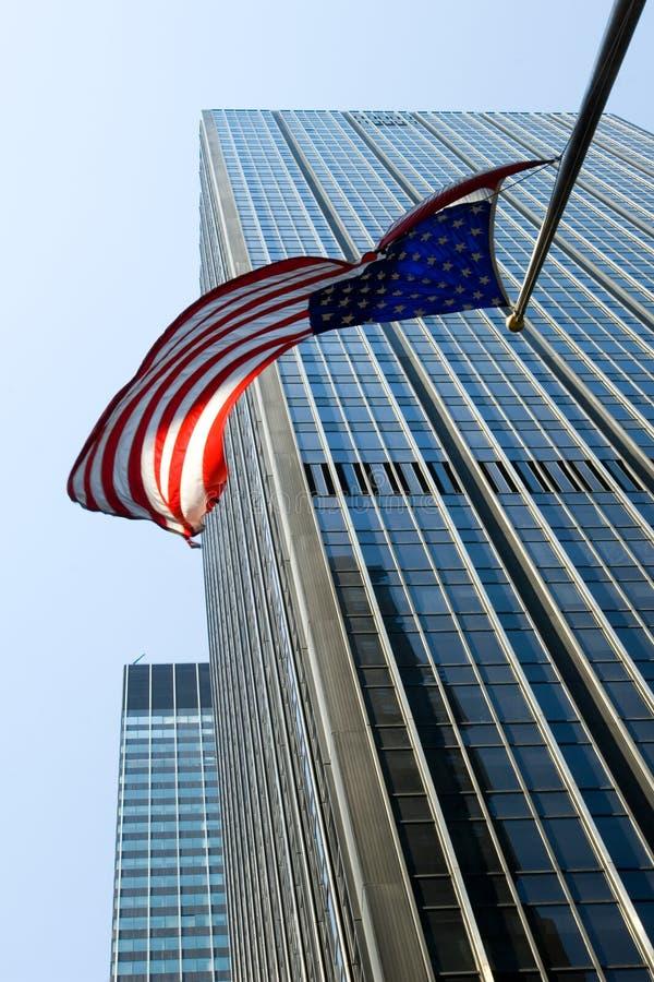 amerykańska flaga Manhattan fotografia royalty free