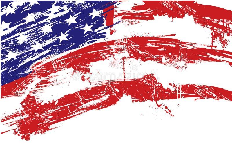 amerykańska flaga tło ilustracji