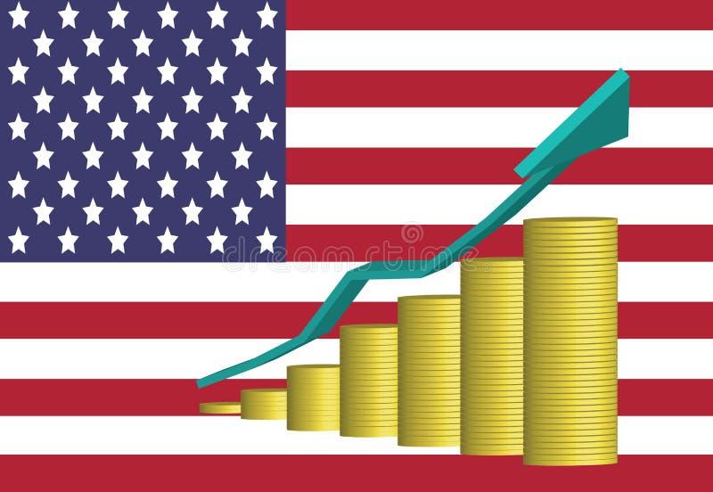 Amerykańska gospodarka Jest Rosnąca ilustracja wektor