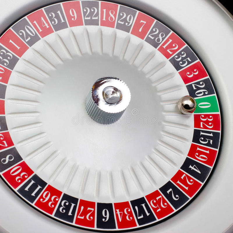 amerykańska gry ruleta pieczętujący stół fotografia stock