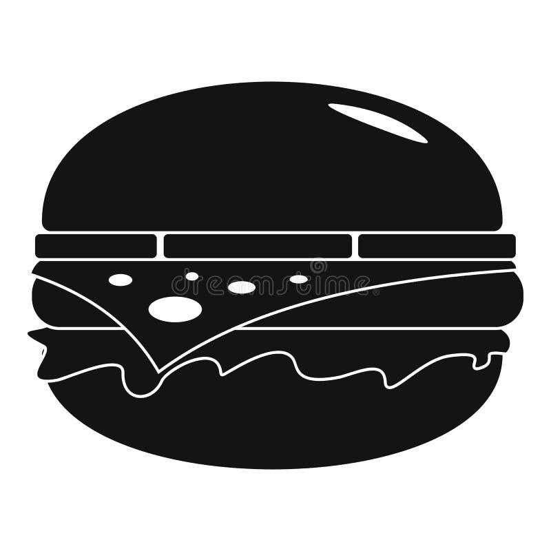 Amerykańska hamburger ikona, prosty styl royalty ilustracja