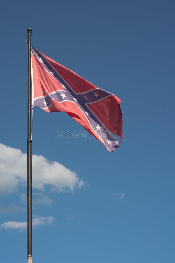 Amerykańska Konfederacyjna flaga fotografia royalty free